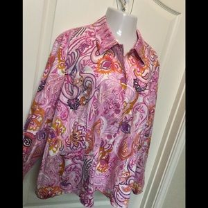 Cold water creek plus size blazer jacket 3X NWT